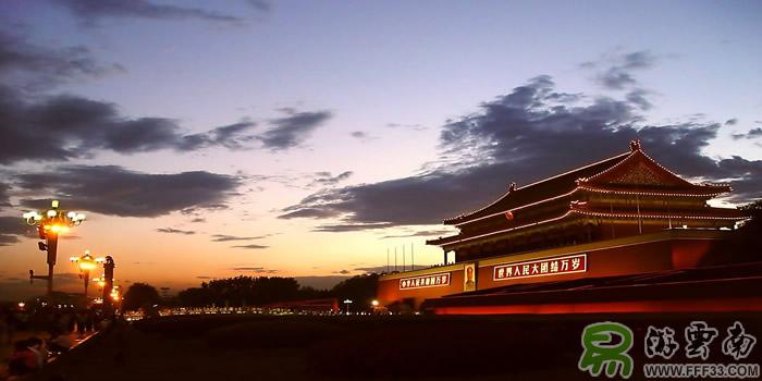 北京天安门石狮手绘